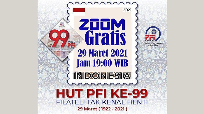 Ajakan para filatelis (pengumpul prangko) untuk bertemu via online (Zoom), Senin (29/3/2021) jam 19.30 malam, gratis, daftarkan ke: zoom@filateli.net (nama, no whatsapp).