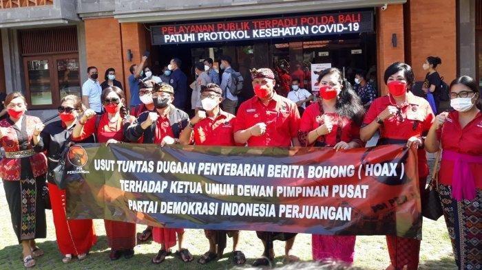 Datangi Mapolda, PDIP Bali Laporkan 12 Akun Twitter yang Sebar Hoaks Megawati Meninggal Dunia