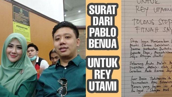 Rey Utami Ngotot Ogah Cerai hingga Bongkar Borok Suami yang Main Serong di Balik Penjara, Pablo Benua Tulis Surat Penuh Emosi: Fitnah Kejam Ini Akan Kuingat Sampai Mati!
