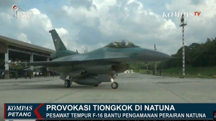 TNI mengerahkan pesawat F-16 untuk pengamanan area perairan Natuna