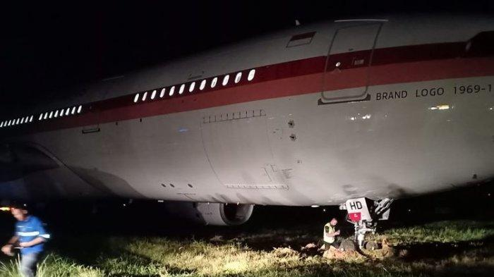 BREAKING NEWS - Pesawat Garuda Rute Makassar-Jakarta Tergelincir saat Hendak Lepas Landas