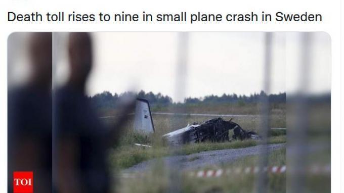Pesawat yang Bawa Penerjun Payung di Swedia Jatuh, 9 Orang Tewas