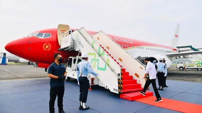 Presiden Jokowi bertolak ke Jawa Timur, Kamis (19/8/2021).