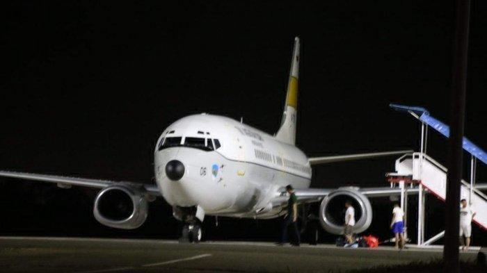 Foto-foto Pesawat TNI AU Pengangkut Ratusan WNI yang Akan Dievakuasi ke Batam