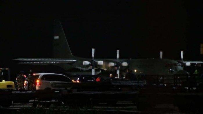 Pesawat TNI AU sudah berada di Bandara Hang Nadim Batam, Sabtu (1/2/2020)