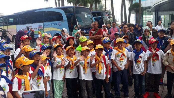 Ratusan Bocah Bersiap Menuju Gunung Geulis Camp Area Bogor Ikuti Jambore Si Bolang