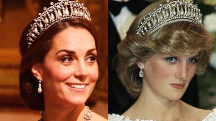 Ikuti Acara Makan Malam Kenegaraan, Kate Middleton Tampil Cantik dengan Mahkota Putri Diana