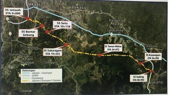 Peta Jalan Tol Japek II Selatan