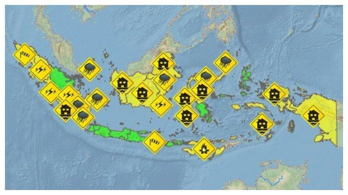 Peringatan Dini BMKG Kamis, 2 September 2021, Potensi Cuaca Ekstrem Hujan Lebat di 17 Wilayah
