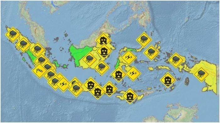 Peringatan Dini BMKG Kamis, 8 April 2021: 29 Wilayah Berpotensi Alami Cuaca Ekstrem