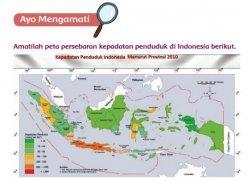 Peta Persebaran Kepadatan Penduduk Indonesia