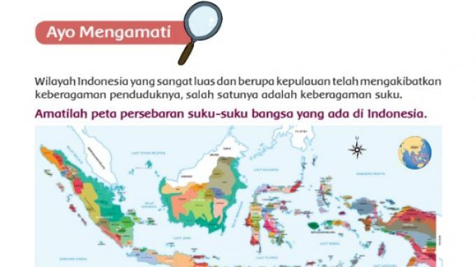 Peta Persebaran Suku Bangsa
