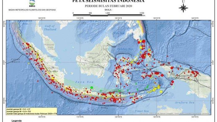 779 Gempa Tektonik Guncang Indonesia Selama Februari 2020, BMKG: Jumlah di Atas Rata-rata