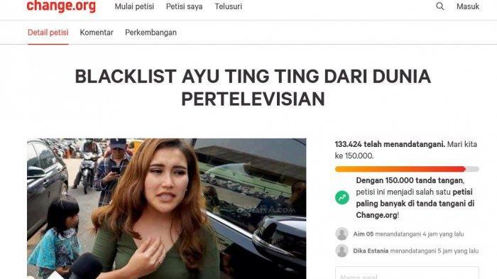 Petisi boikot Ayu Ting Ting new new