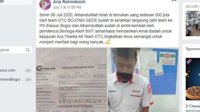 Viral Kisah Kejujuran Petugas Kebersihan KRL, Nemu Plastik Isi Uang Rp 500 Juta dan Pilih Kembalikan