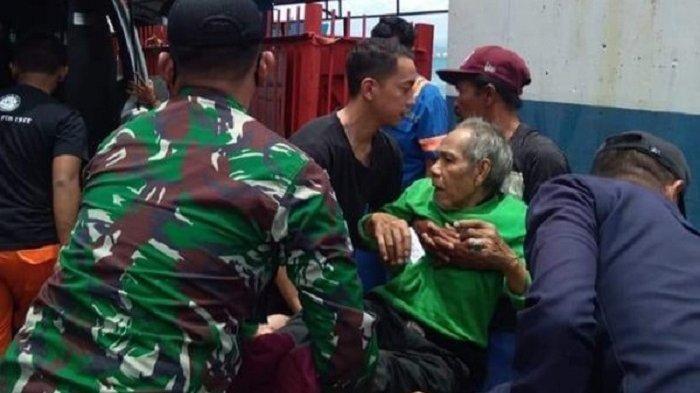 Kakek Berusia 80 Tahun Nekat Lompat Dari Atas Kapal di Pelabuhan Merak Banten, Diduga Depresi
