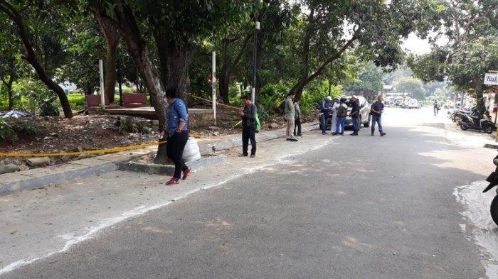 Area terpapar radiasi nuklir di Perumahan Batan Indah, Kademangan, Setu, Tangerang Selatan (Tangsel), Sabtu (15/2/2020)