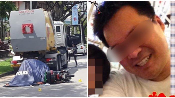 Phang Wei Sum (42) dikabarkan tewas di tempat, saat bertabrakan dengan sebuah truk.