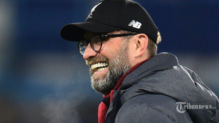 Ekspresi manajer Liverpool asal Jerman, Jurgen Klopp jelang laga babak kelima Piala FA antara Chelsea kontra Liverpool di Stadion Stamford Bridge, London, Inggris, Rabu (4/3/2020) dini hari WIB. AFP/Glyn Kirk