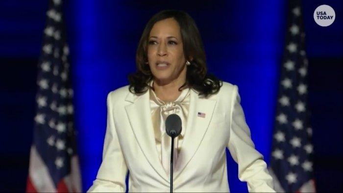 Ucapkan Sumpah Jabatan, Kamala Harris Jadi Wakil Presiden Perempuan Pertama AS