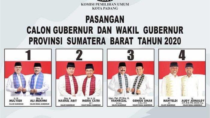UPDATE Hasil Pilgub Sumatera Barat 2020: Kurang 1 Wilayah, Mahyeldi-Audy Menang Telak di 10 Daerah