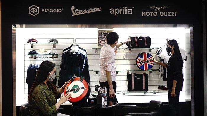 Pilihan aksesori dan merchandise yang lengkap dealer piagio