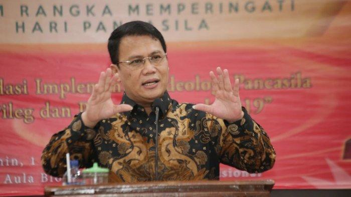 Wakil Ketua MPR RI Ahmad Basarah dalam diskusi nasional bertajuk