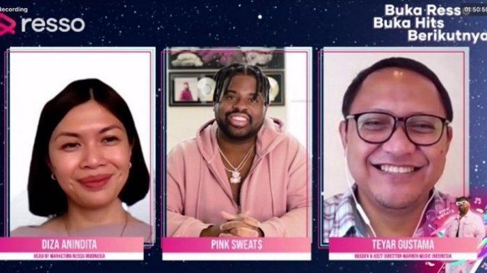 Jumpa Pers dengan Pink Sweat$ yang diadakan Resso secara virtual, Kamis (24/6/2021)