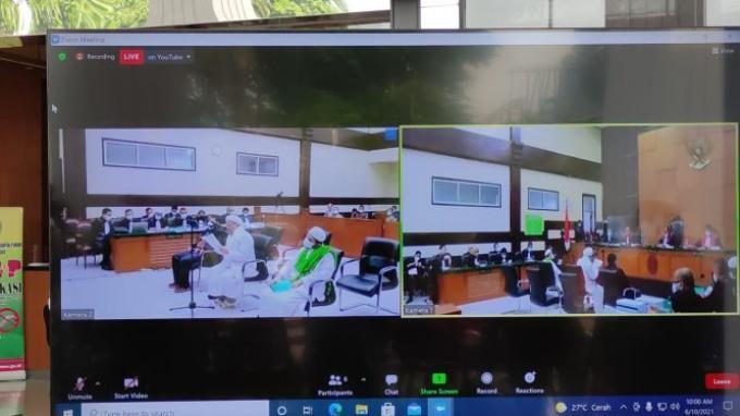 Pledoi Perkara Swab Test, Rizieq Sebut Kasusnya Merupakan Operasi Intelijen Hitam Berskala Besar