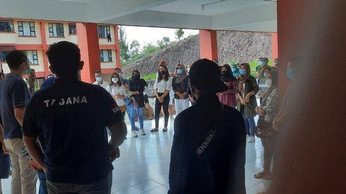 Terpapar Virus Corona, 7 dari 100 PMI di Rusunawa Tanjunguncang Dievakuasi ke RSKI Galang Batam