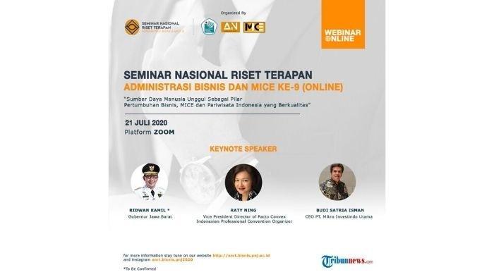 PNJ Gelar Seminar Nasional Online Riset Terapan Bisnis, MICE, dan Pariwisata