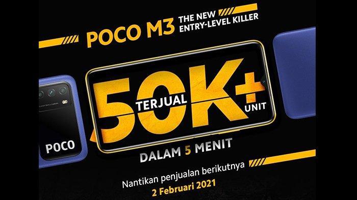 50 Ribu Unit Terjual dalam 5 Menit, Ini Harga POCO M3 yang Dijual Kembali pada 2 Februari