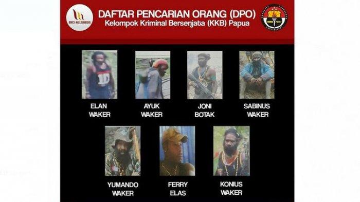 21 Buronan Kelompok Bersenjata di Papua Dirilis Polisi, Ini Nama-namanya