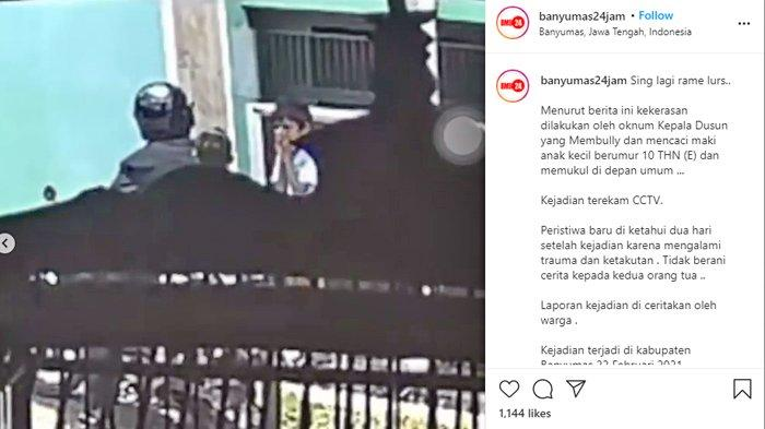 Polisi Benarkan Beredarnya Video Viral Oknum Perangkat Desa di Banyumas Pukul dan Marahi Anak Kecil
