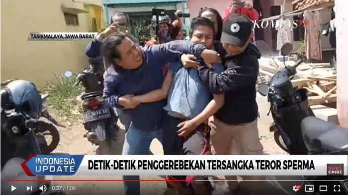 Polisi menangkap pelaku teror penyiraman sperma di Tasikmalaya. Dirinya sempat melawan ditangkap polisi.