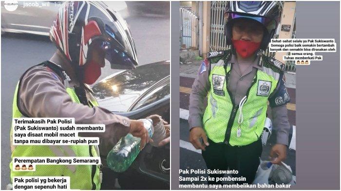 VIRAL Polisi Ini Bantu Belikan Bensin Pengendara Mobil, Kekeh Tak Mau Dibayar: Sudah Tugas Saya