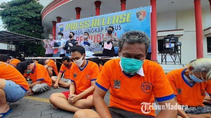 Penjudi Online yang Tinggal di Hotel dan Apartemen Surabaya Digulung Polisi