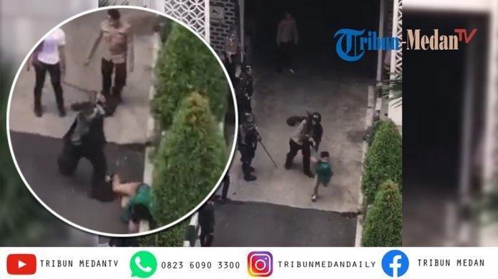 Oknum Polisi Pelaku Pemukulan Mahasiswa di Gedung DPRD Sumut Diperiksa