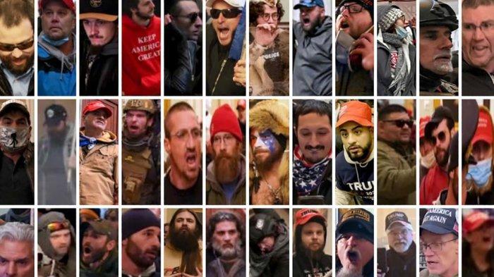 Polisi Metro Washington DC dan FBI telah merilis foto buronan untuk orang-orang yang berpartisipasi dalam kerusuhan Capitol AS.