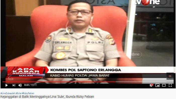 Kabid Humas Polda Jawa Barat Kombes Pol Saptono Erlangga mengungkapkan detik-detik kematian Lina Jubaedah mantan istri Sule berdasarkan hasil olah tempat kejadian perkara (TKP).