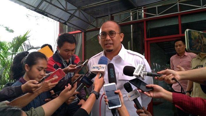 Politikus Partai Gerindra Andre Rosiade di Kantor DPP Partai Gerindra, Jalan Harsono RM, Ragunan, Jakarta Selatan, Selasa (11/2/2020).