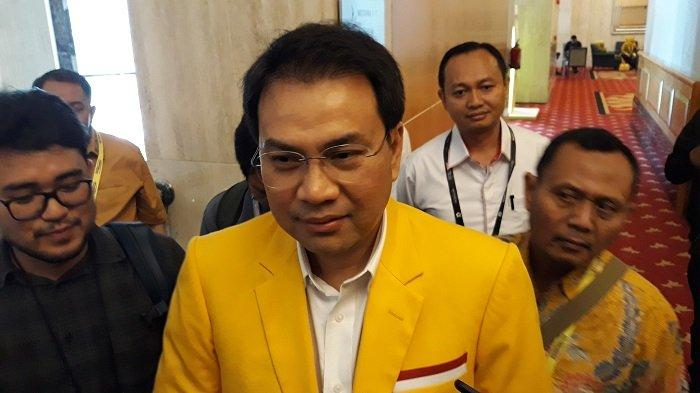 Politikus Partai Golkar Aziz Syamsuddin di sela-sela gelaran Munas X Golkar, di Hotel Ritz-Carlton, Jakarta Selatan, Kamis (5/12/2019).