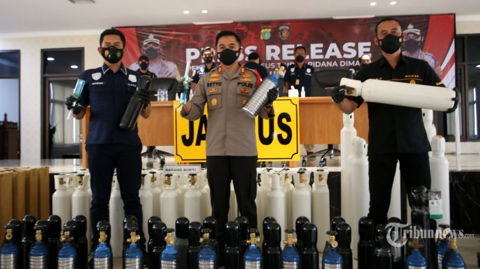 Dua Penjual Tabung Oksigen Ditangkap Polisi Karena Naikan Harga, Pelaku Raup Untung Ratusan Juta
