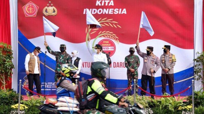 Polri Sudah Salurkan 475.420 Paket dan 2.471.217 Kg Beras ke Warga Selama PPKM Darurat