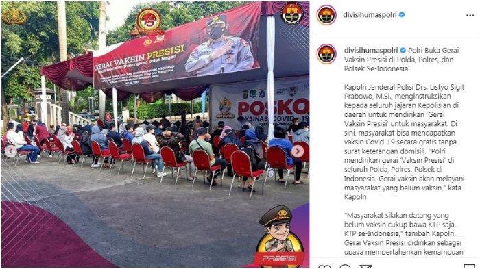 Polri Buka Gerai Vaksin Presisi di Polda, Polres, dan Polsek Se-Indonesia.