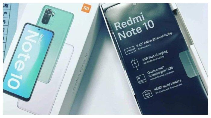 Bocoran rupa ponsel Xiaomi Redmi Note 10 yang akan dirilis 4 Maret mendatang.