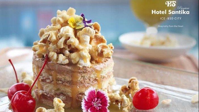 Bangkitkan Moodbooster dengan Popcorn Caramel Cake ala Hotel Santika Premiere ICE-BSD City