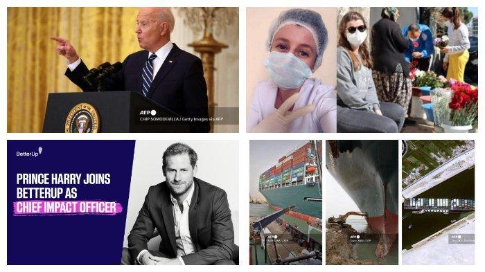 POPULER Internasional: Fakta-fakta Konferensi Pers Joe Biden | Lalu Lintas Terusan Suez Terhenti