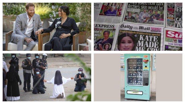 POPULER Internasional: Pernikahan Rahasia Meghan-Harry | Tes PCR di Jepang Lewat Vending Machine