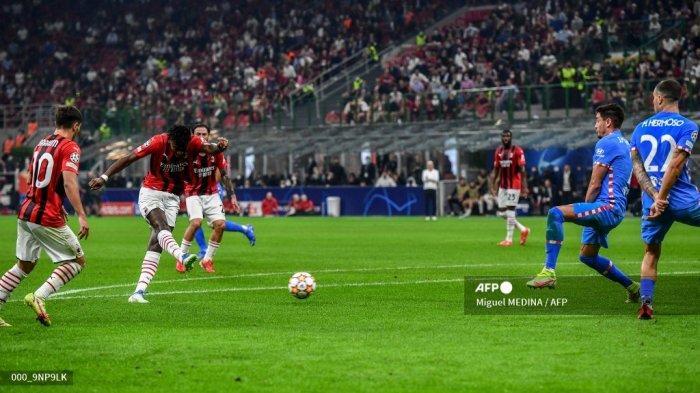 Hasil AC Milan vs Atletico Madrid Babak I - Kessie Dapat Kartu Merah, Leao Bawa Rossoneri Unggul 1-0